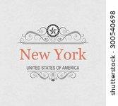 new york.vintage frame.   Shutterstock .eps vector #300540698