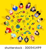 kids childhood leisure activity ... | Shutterstock . vector #300541499