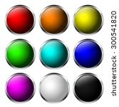 round buttons. shiny web icon... | Shutterstock . vector #300541820