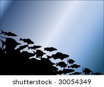 fish in the ocean illustration | Shutterstock .eps vector #30054349