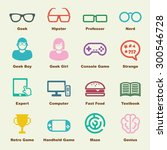geek elements  vector... | Shutterstock .eps vector #300546728