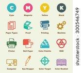 printing elements  vector... | Shutterstock .eps vector #300546749