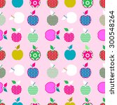 baby and kids pattern with... | Shutterstock .eps vector #300548264