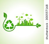 ecology concept with recycle... | Shutterstock .eps vector #300557168