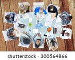 meeting communication planning... | Shutterstock . vector #300564866