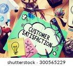 customer satisfaction service... | Shutterstock . vector #300565229