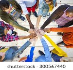 team corporate teamwork... | Shutterstock . vector #300567440