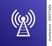 antenna icon tower radio mast...   Shutterstock .eps vector #300571604