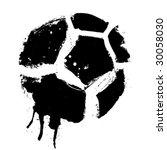 grunge soccer ball vector | Shutterstock .eps vector #30058030