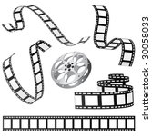 set of film and roll vector   Shutterstock .eps vector #30058033