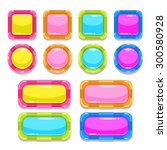 funny colorful buttons set ...