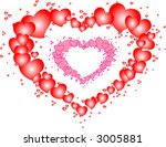 red and pink hearts frames | Shutterstock .eps vector #3005881