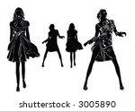 black silhouettes of  beautiful