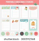 cute vector cards  notes ... | Shutterstock .eps vector #300592568