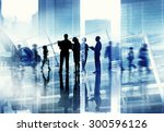 silhouette people discussion... | Shutterstock . vector #300596126