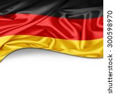germany flag of silk with... | Shutterstock . vector #300598970
