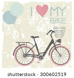 vector illustration of retro... | Shutterstock .eps vector #300602519