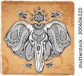 vintage graphic vector indian... | Shutterstock .eps vector #300606320