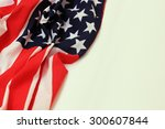 closeup of american flag on... | Shutterstock . vector #300607844