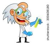 mad scientist  he is... | Shutterstock .eps vector #300608180