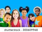 diversity children friendship...   Shutterstock . vector #300609968