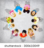 children kids cheerful... | Shutterstock . vector #300610049