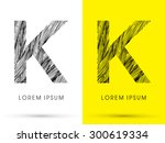 k  font   hair line  graphic...