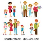 people and big family | Shutterstock .eps vector #300621620