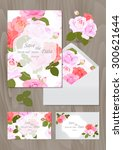 wedding set  wedding card ... | Shutterstock .eps vector #300621644