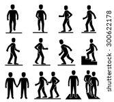 people walking icons vector.   Shutterstock .eps vector #300622178