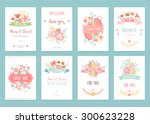 romantic vintage cards... | Shutterstock .eps vector #300623228
