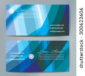 stylish business cards with... | Shutterstock .eps vector #300623606
