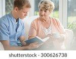 happy older woman spending time ... | Shutterstock . vector #300626738
