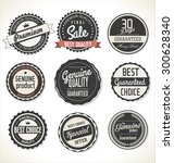 retro premium quality labels | Shutterstock .eps vector #300628340