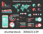 infographic elements icon set... | Shutterstock .eps vector #300631139