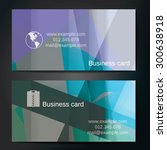 stylish business cards with... | Shutterstock .eps vector #300638918