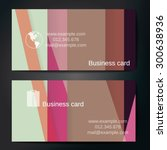 stylish business cards with...   Shutterstock .eps vector #300638936