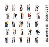 team over white isolated groups  | Shutterstock . vector #300641189
