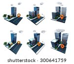 skyscrapers icons | Shutterstock . vector #300641759