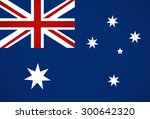 australian flag illustration. | Shutterstock . vector #300642320