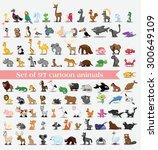 set of cute cartoon animals | Shutterstock .eps vector #300649109