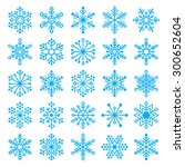 blue christmas snowflakes... | Shutterstock .eps vector #300652604