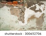 grunge aged street wall of the... | Shutterstock . vector #300652706