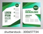 business brochure vector design.... | Shutterstock .eps vector #300657734