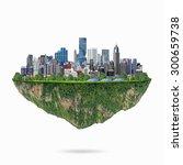 fancy island city concept...   Shutterstock . vector #300659738