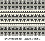 vector tribal ethnic pattern  | Shutterstock .eps vector #300664553