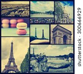 collage of some pictures of... | Shutterstock . vector #300666929