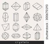 set of geometric crystals gem... | Shutterstock .eps vector #300670193