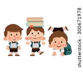 set of cartoon characters  boys ... | Shutterstock .eps vector #300671978