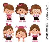 set of cartoon characters ... | Shutterstock .eps vector #300672074